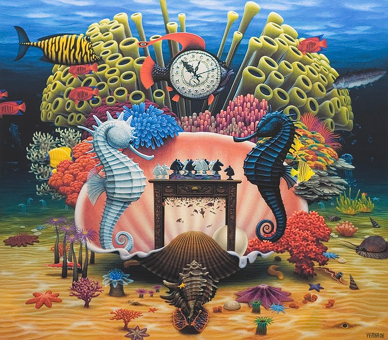 06-Chess-on-the-Reef-Jacek-Yerka-Surreal-Paintings-Parallel-Universes-www-designstack-co