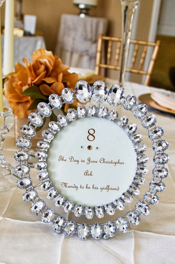 Sonal j shah event consultants llc bling table numbers for Bling decor