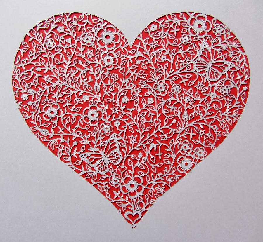 papercut heart design