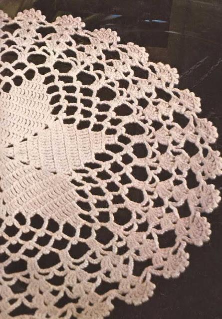 """Centro de Mesa blanco """"Estrella"""" a Crochet"""