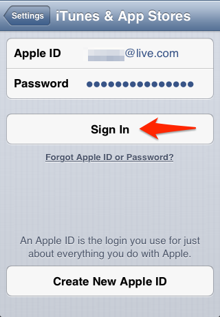 Change Apple ID In iPhone