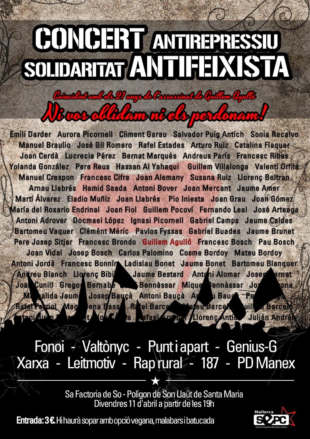 Concert per la solidaritat antifeixista (11-04-14)