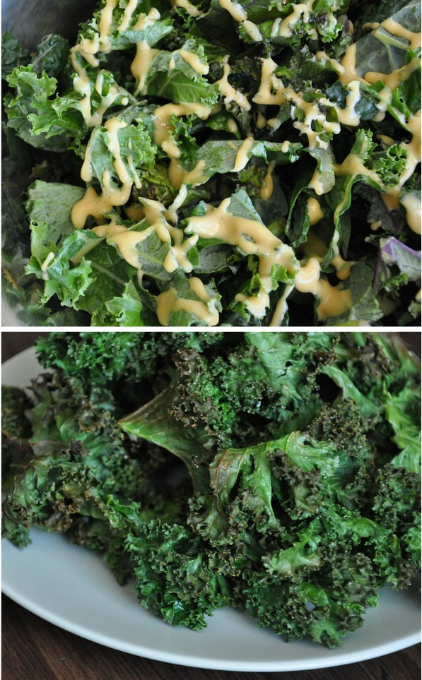 honey mustard kale chips