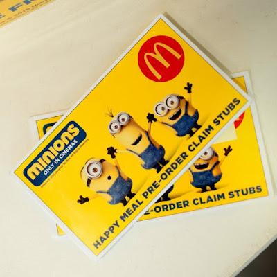Minions Happy Meal Pre-Order Claim Stub
