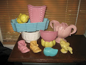 Vintage Pastel Pottery