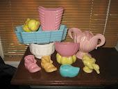 Vintage Pastel Pottery
