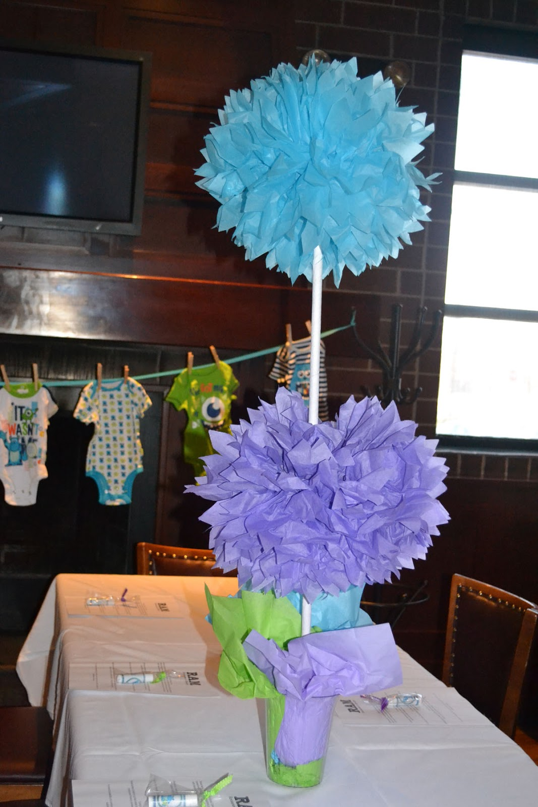 manda creation monsters inc baby shower day 7