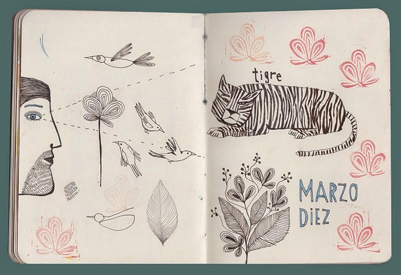 Seis ilustradores y sus sketchbooks