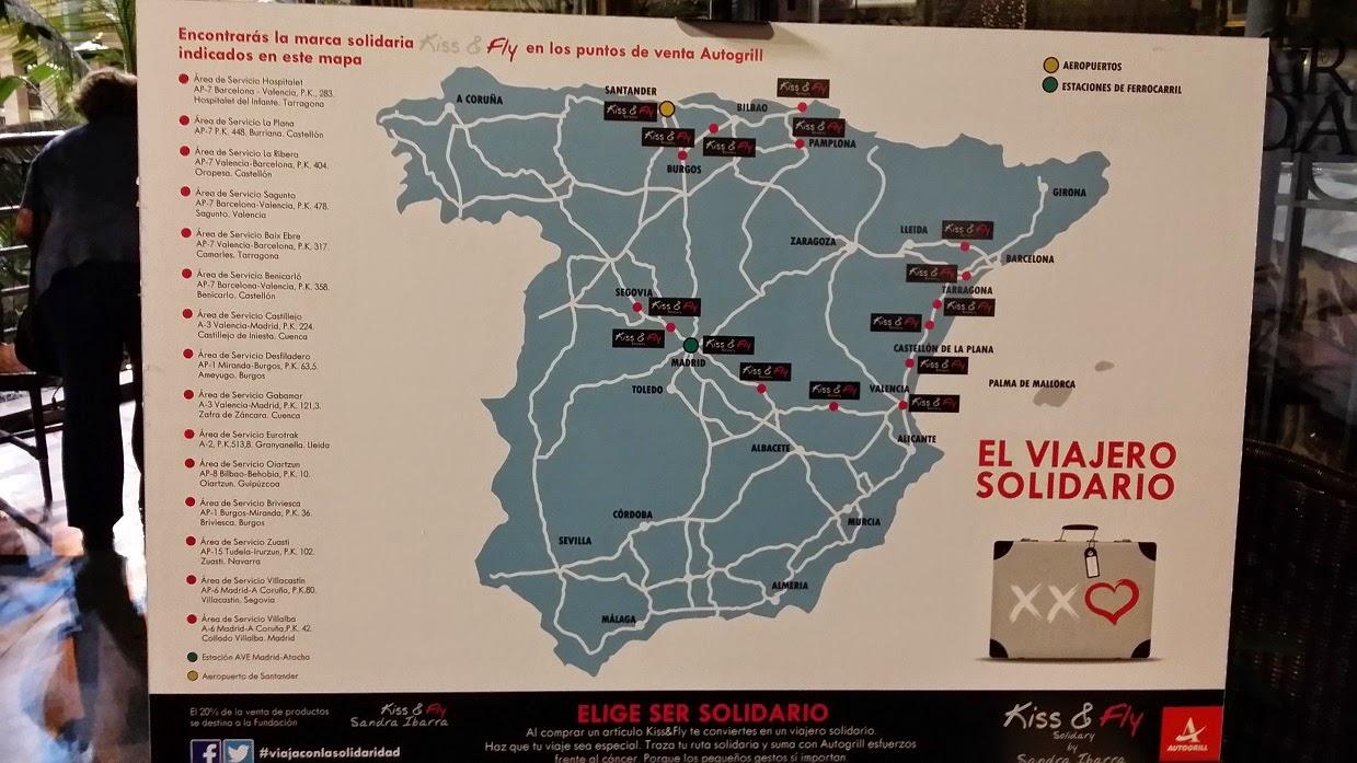 Kiss and Fly Solidary, Fundación Sandra Ibarra, Autogrill Iberia, Ruta Solidaria, Moda, street style, Sandra Ibarra, Nieves Alvarez, Ivonne Reyes, Juan Ramón Lucas, Restaurante Samarkanda, Estación de Atocha