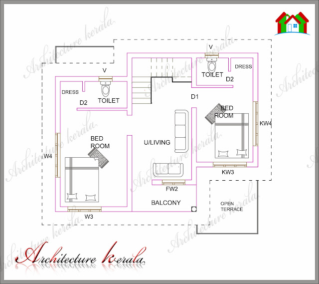 A small kerala house plan architecture kerala for Small budget house plans in kerala