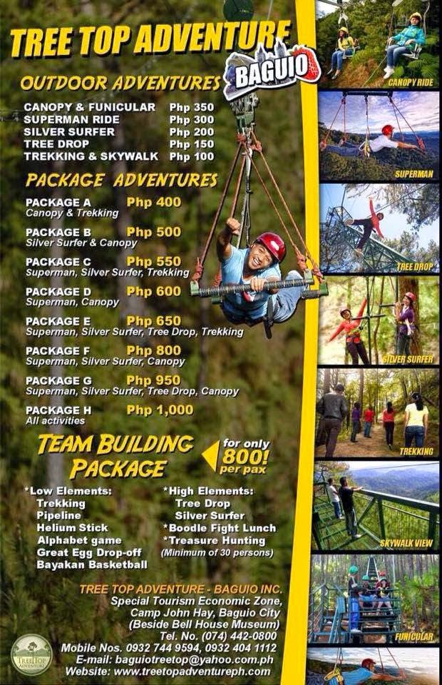 Tree Top Adventure Baguio: Experience the extreme