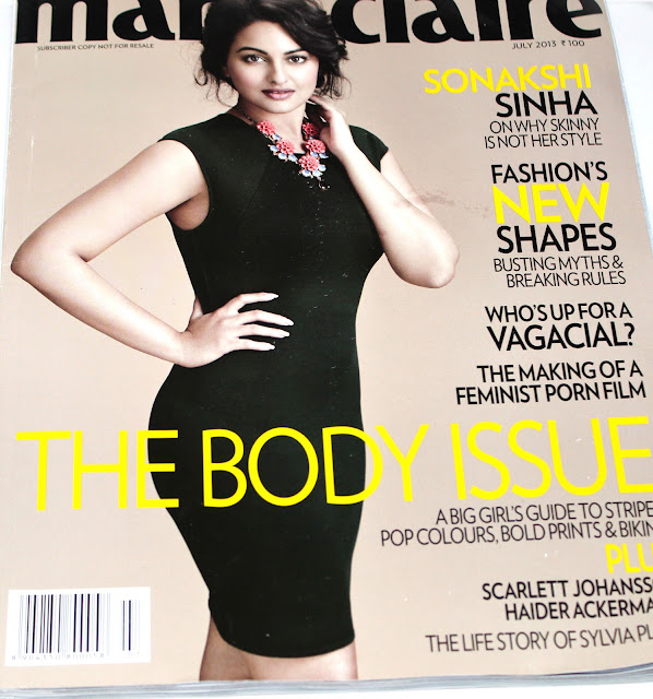 Sonkashi Sinha on Marie Claire July 2013