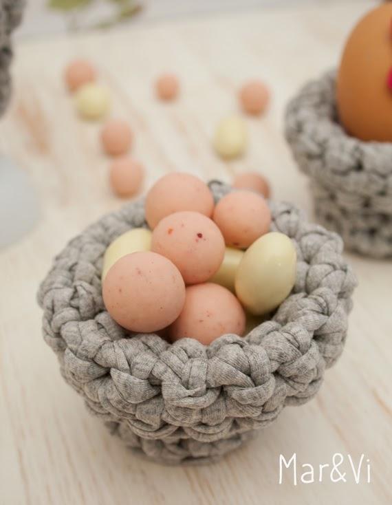 Cestillos de Pascua de trapillo