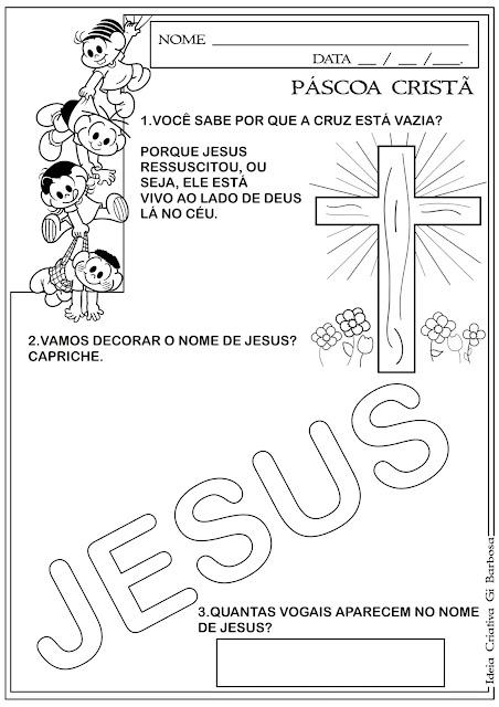 Atividade Páscoa Cristã