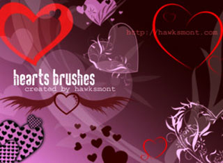 Hearts by hawksmont Photoshop Brushes, brushes photoshop, Photoshop Brushes, CS5