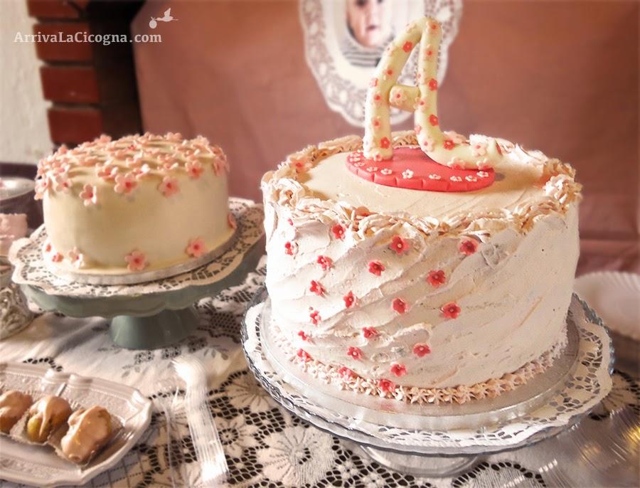 torta cake design per battesimo shabby chic