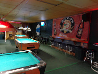 Pool room at Ned's