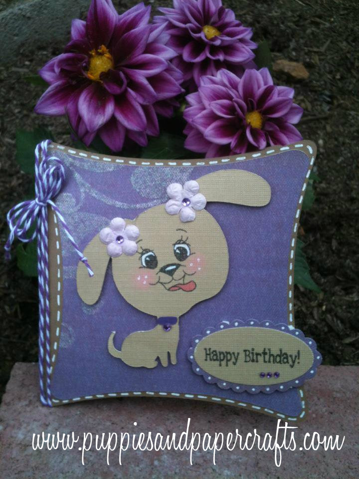 I Kept Going With The Purple Theme For My Project Today Made A Birthday Card Using An Adorable Puppy And Jaded Blossom Misc Fun Stamp Set
