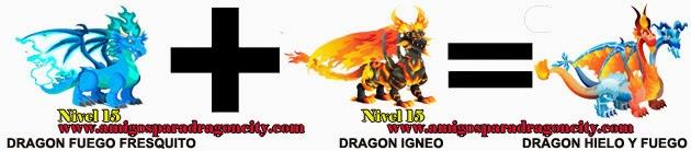 como hacer el dragon hielo y fuego en dragon city formula 2