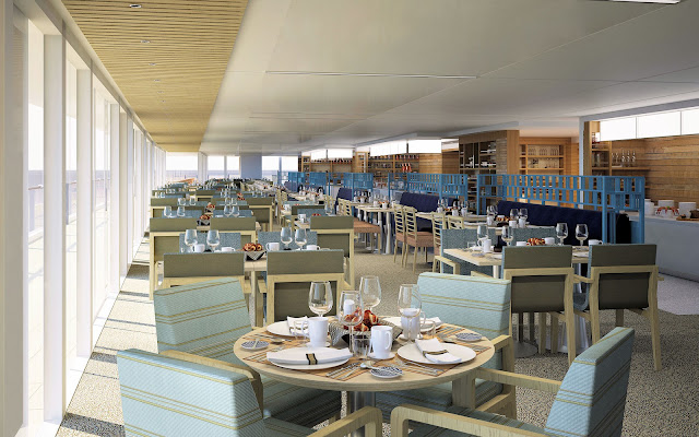 The World Café offers yet another dining choice while onboard. All photos: © Viking Cruises. Unauthorized use is prohibited.