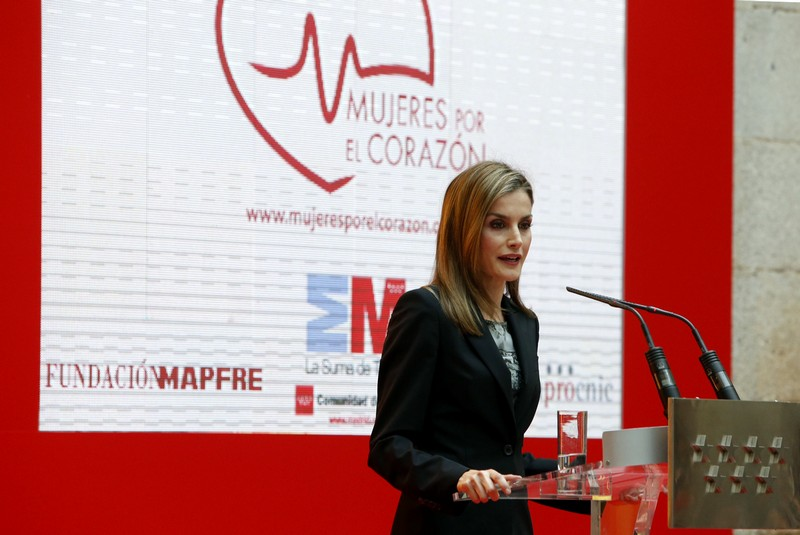 King Felipe VI of Spain and Queen Letizia of Spain attend the presentation of the 23rd Edition of the Spanish Language's Dictionary