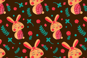 Spring Easter Bunny Pattern by Haidi Shabrina