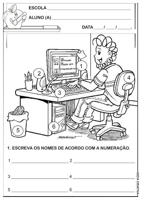 Atividade Escrita Espontânea Turma da Mônica