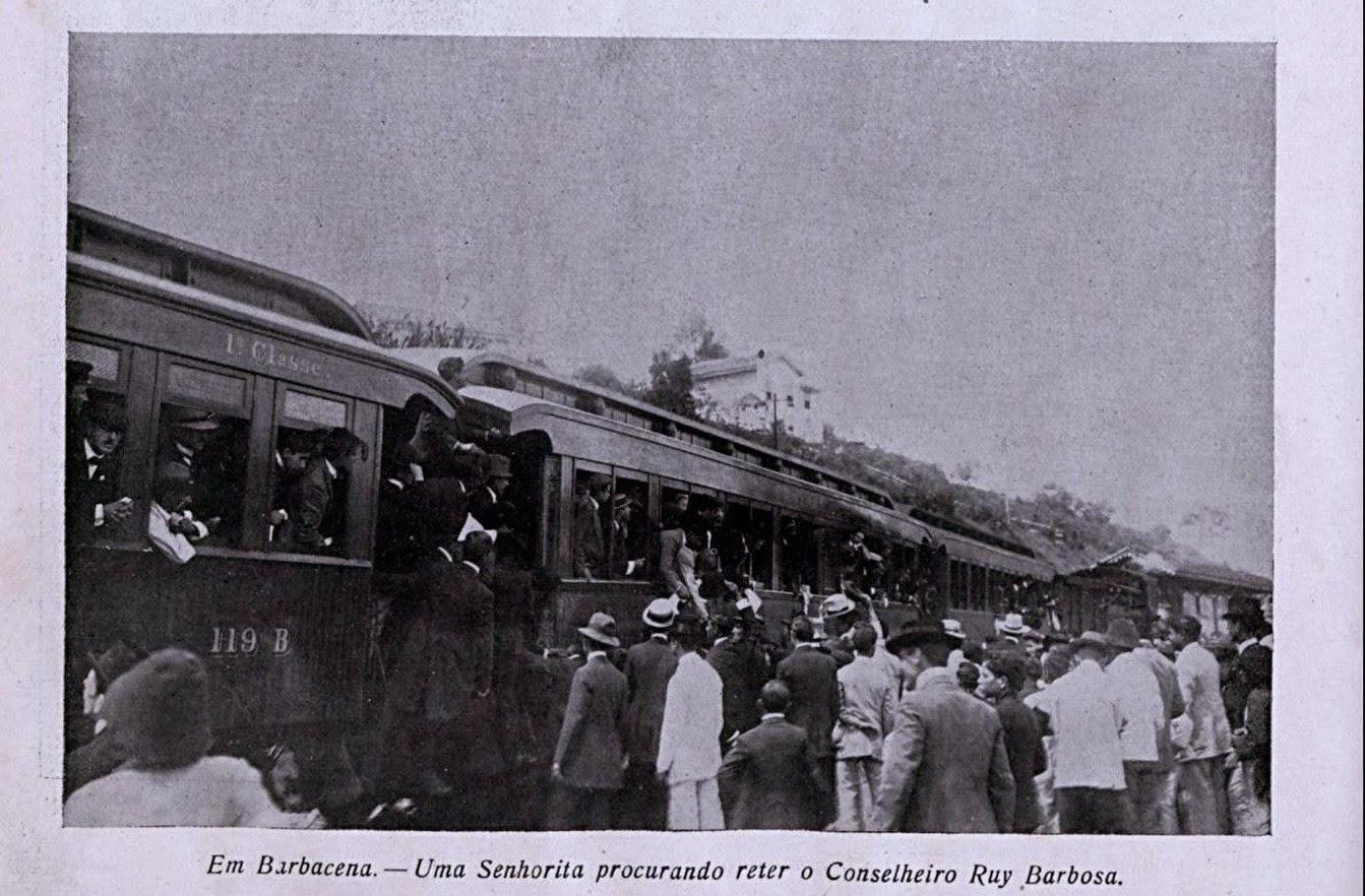 CONSELHEIRO RUY BARBOSA EM BARBACENA FEVEREIRO DE 1910