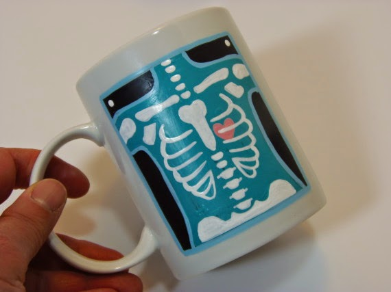 X-Ray Technician Painted Coffee Mug / www.kudoskitchenbyrenee.wazala.com