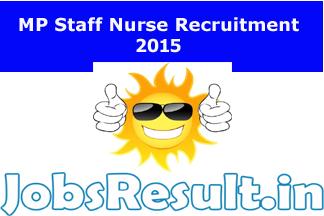 MP Staff Nurse Recruitment 2015