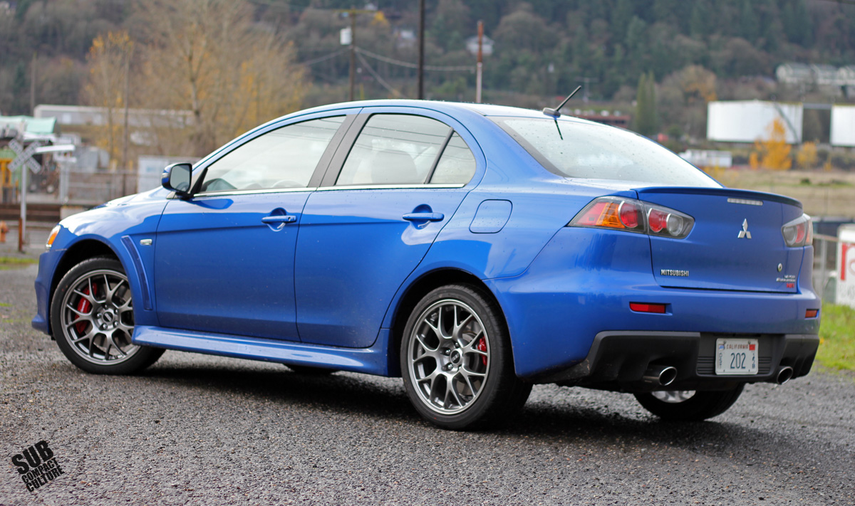 2015 mitsubishi lancer evolution mr rear