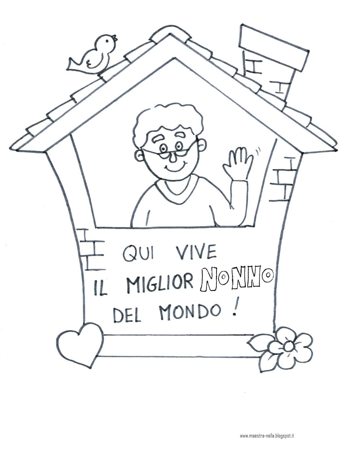 Estremamente maestra Nella: Festa dei nonni: quadretto da appendere! CF58