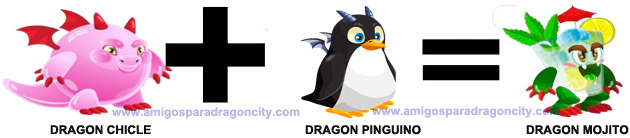 como conseguir el dragon mojito en dragon city combinacion 4