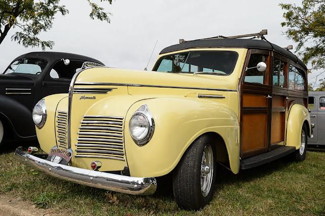 1940 Plymouth Woody at Jalopyrama