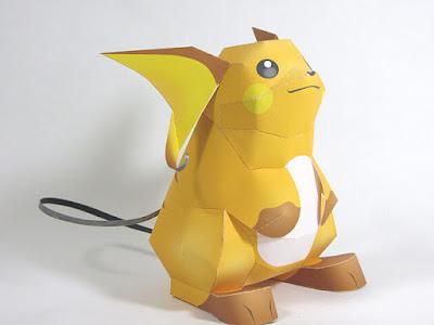 Pokemon raichu papercraft