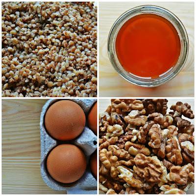 Gruszkowiec z orzechami włoskimi - składniki