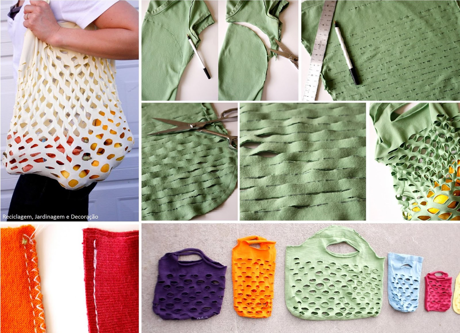 Modernizando guardarropa reutilizando playeras viejas - Como guardar los bolsos ...