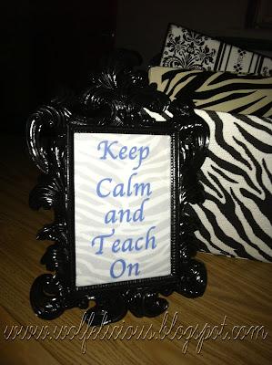 Photo of Keep Calm Zebra Print Wolfelicious