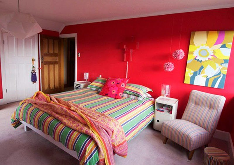 red paint colors for bedrooms