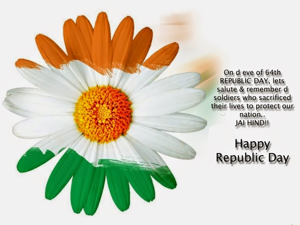 Happy Republic Day 2015 Flower With Quotes Wallpaper