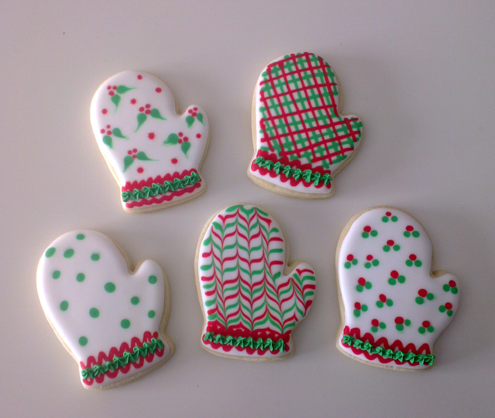 galletas decoradas con glasa real navideñas