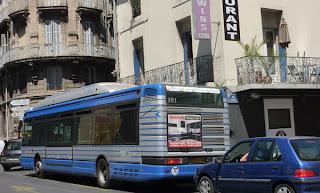 Les bus en Montpellier centre