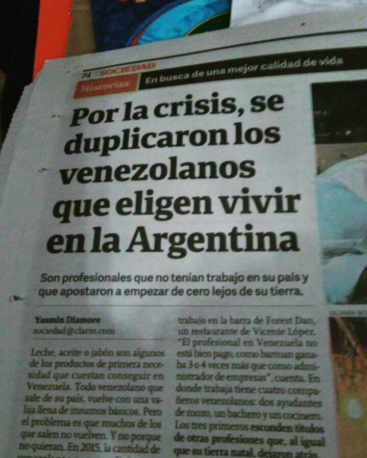 Reportaje del Diario el Clarín