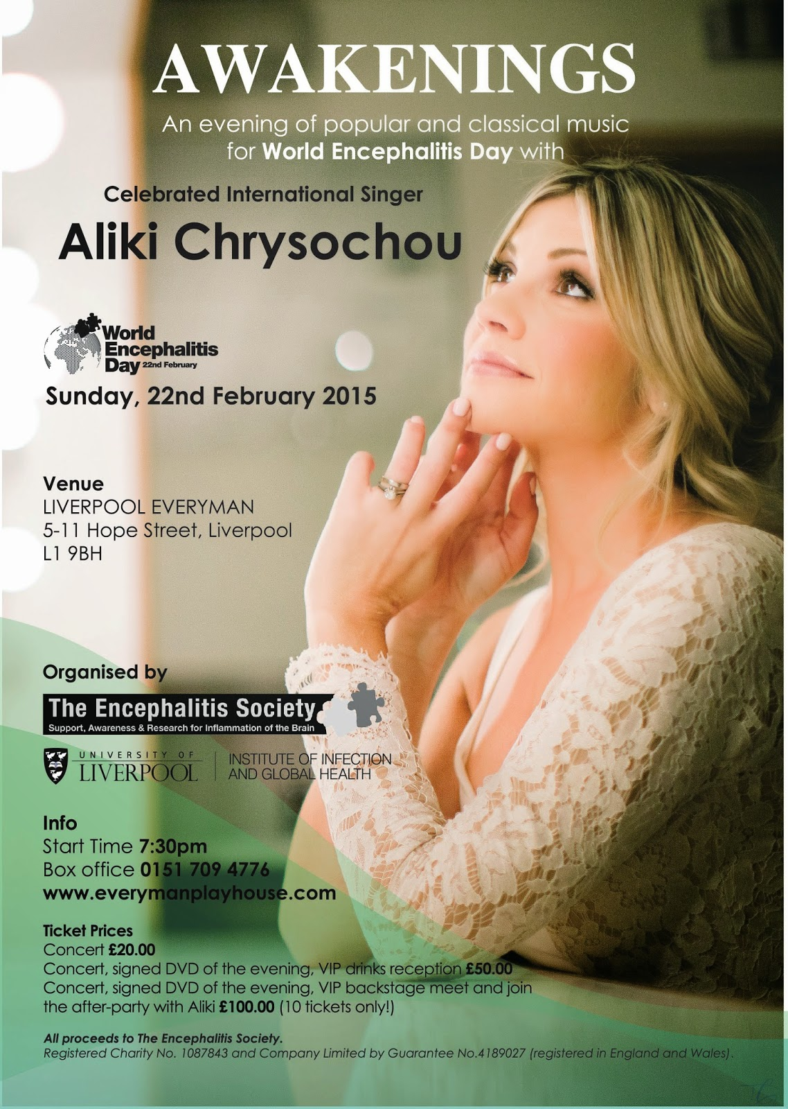 Aliki Chrysochou Liverpool charity music event The Everyman Playhouse