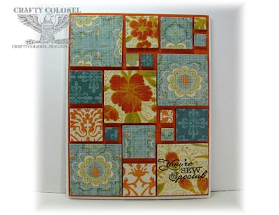 Crafty Colonel Donna Nuce for House of Cards, Simon Says Stamp Stitched Squares, Card