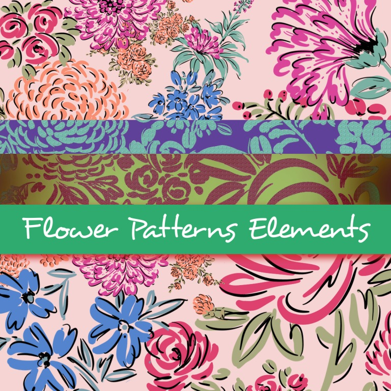 Flowers Pattern Elements $100