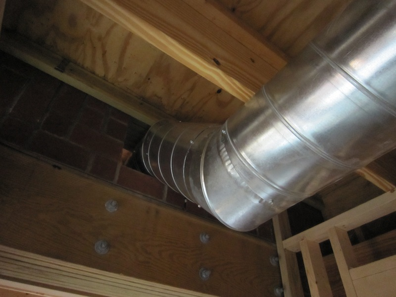 Exposed Spiral Duct : Church house three trades and a key