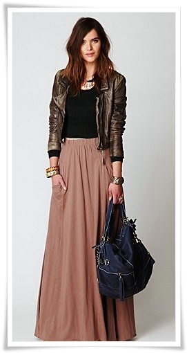 ILUV2SHOP Currently Obsessing Leather Jacket And Flowy Pleated Dress