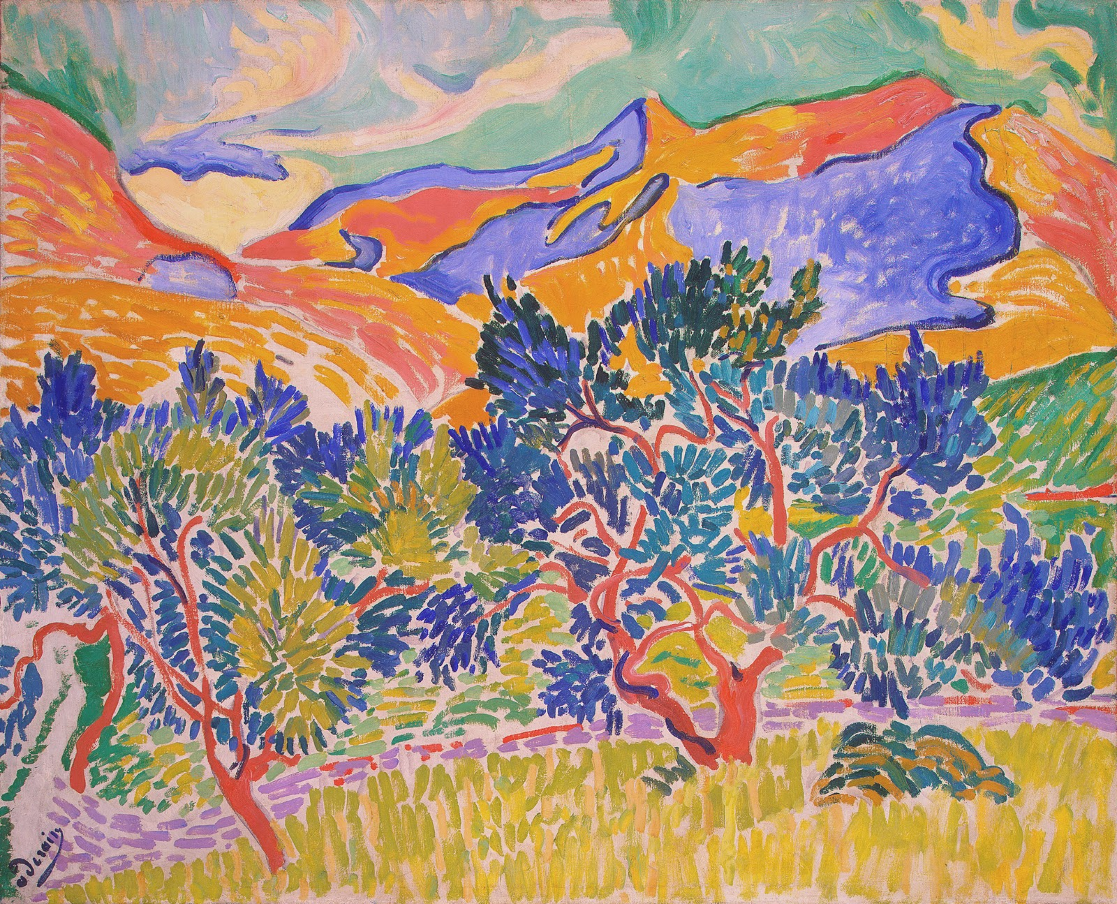 Andre Derain mountains at collioure