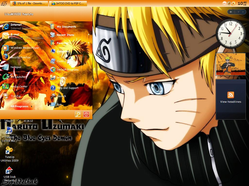 psp themes naruto - HD 1024×768